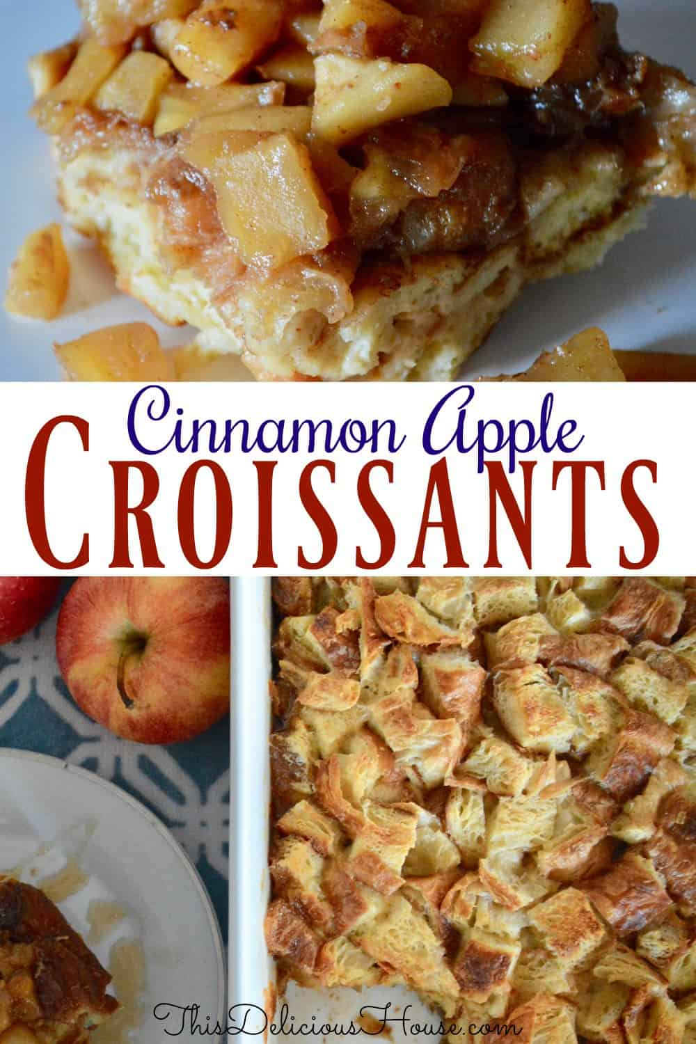 croissant baked French toast pinterest pin