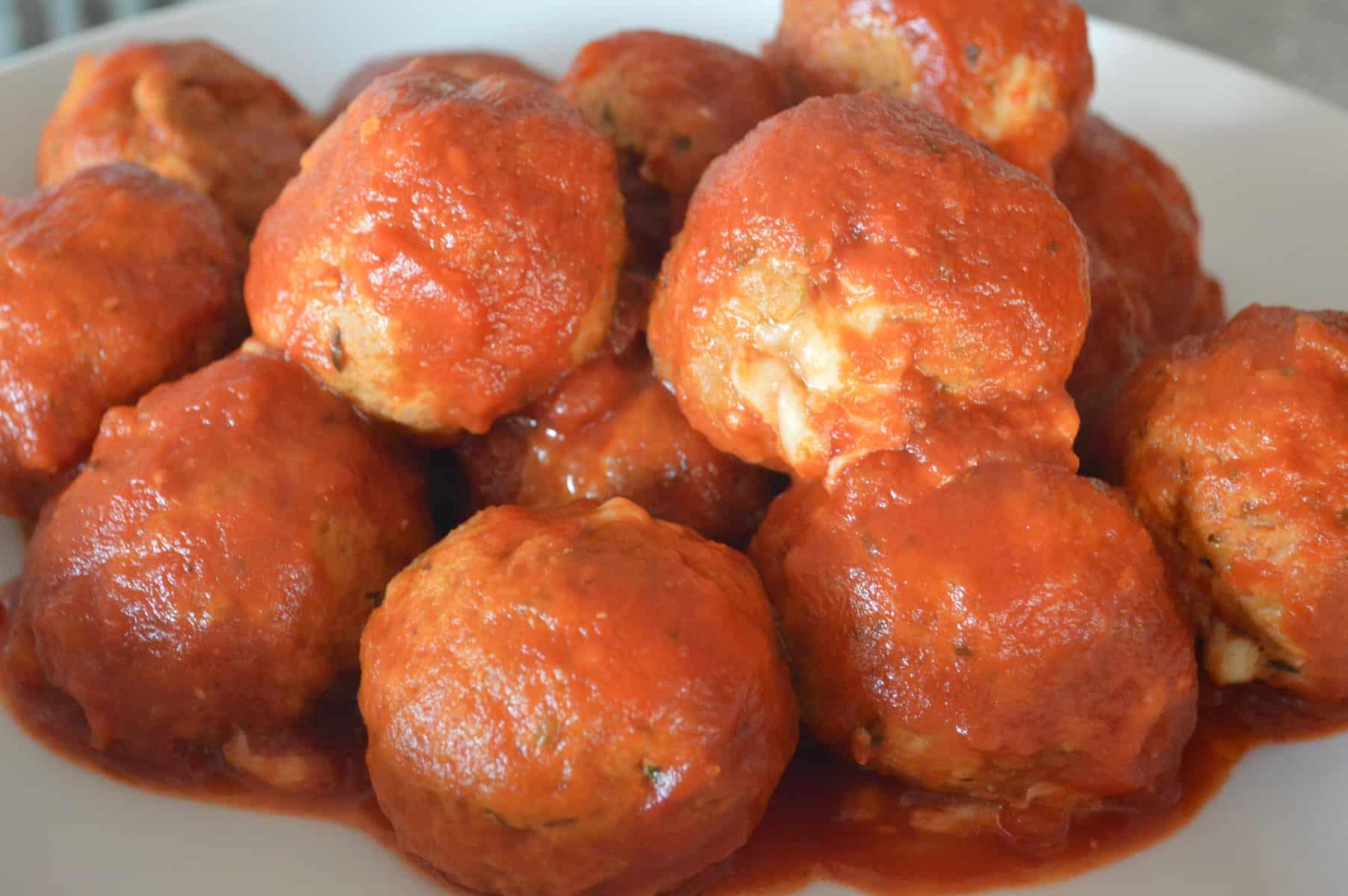 provolone stuffed turkey meatballs