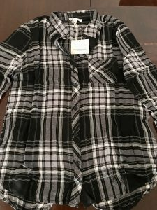 wantable fall 2018 black plaid shirt