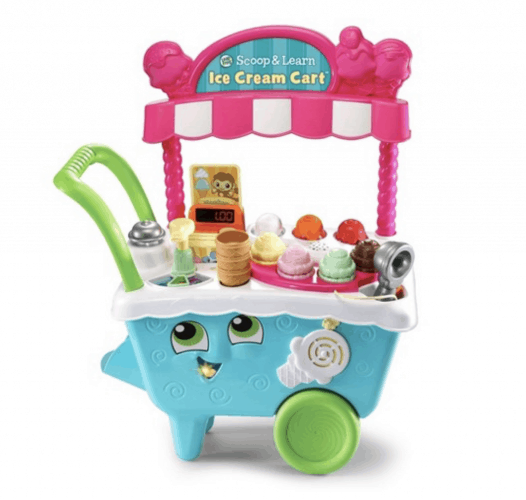 best gifts for 3-year-old girl scoop and learn ice cream cart