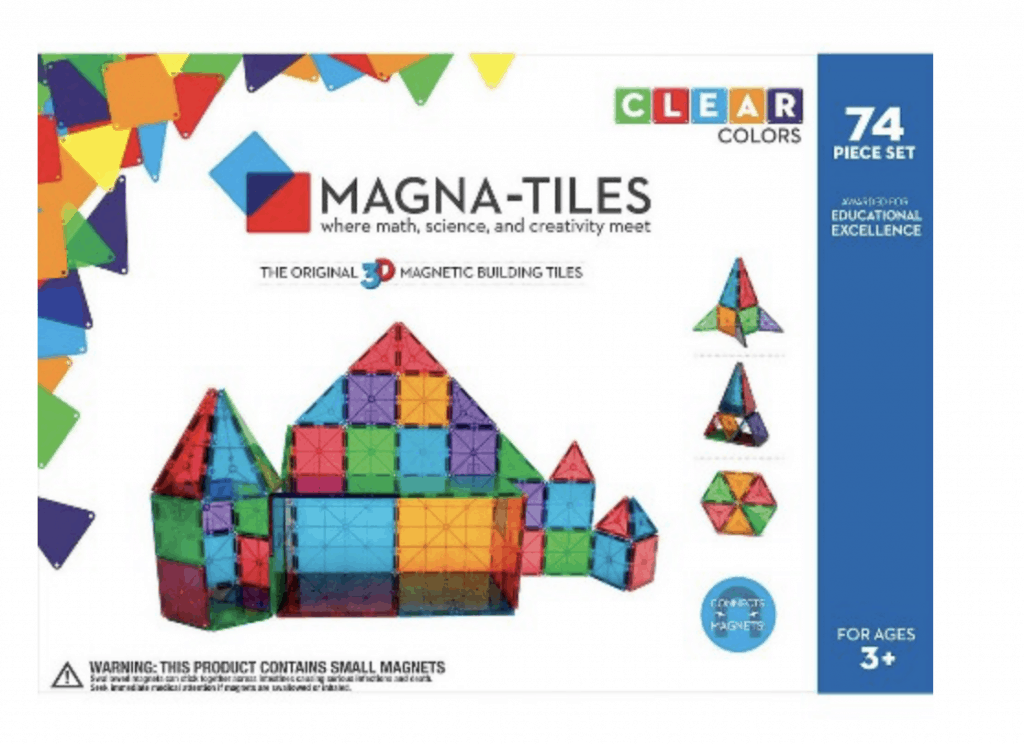 best gifts for 3-year-old girl Magna Tiles set