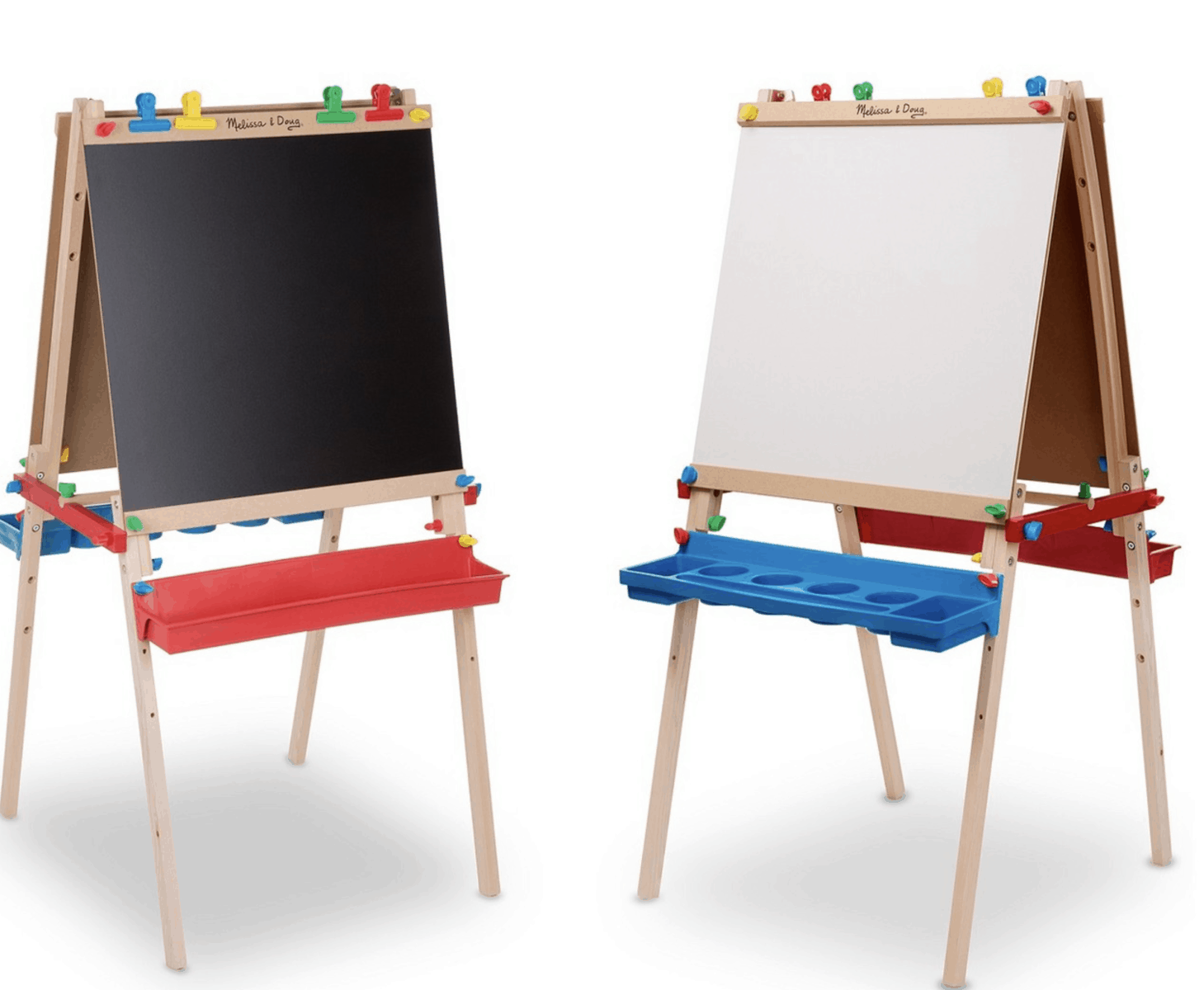 best gifts for a 3-year-old Melissa and Doug art easel with chalkboard