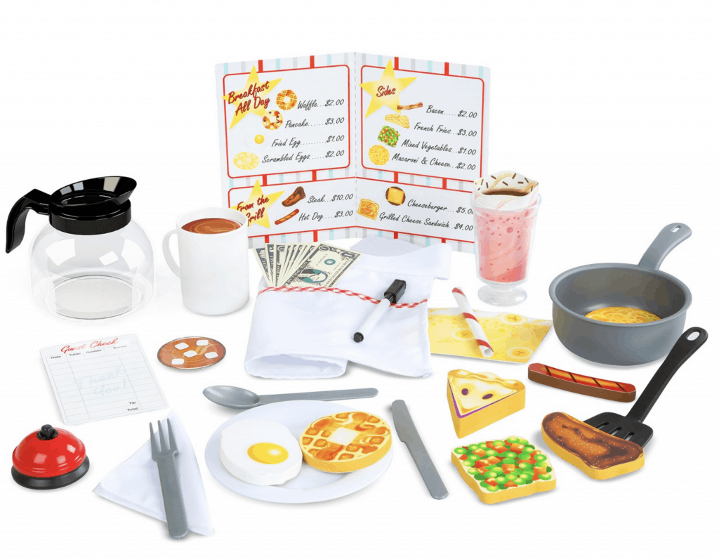 best gifts for 3-year-old girls diner restaurant pretend set from Melissa and Doug