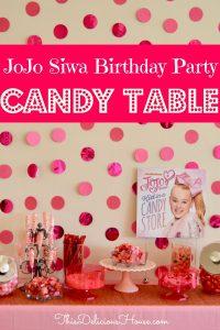 JoJo Siwa Birthday Party Candy Table