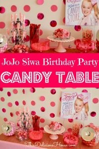 JoJo Siwa Birthday Party Candy Table