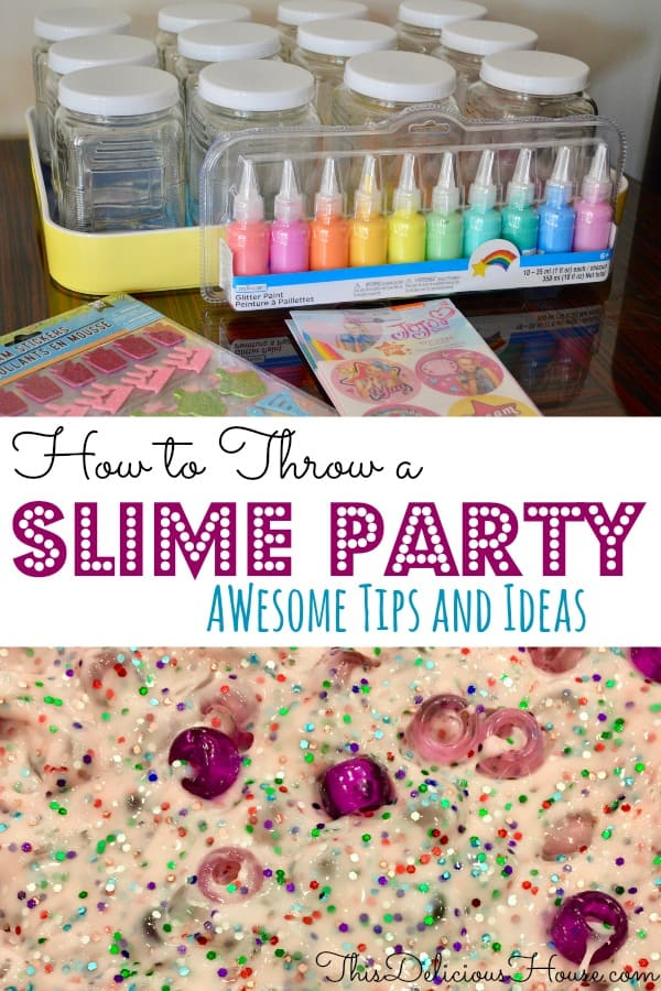 how to throw a slime party