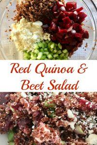 Red Quinoa Beet Salad