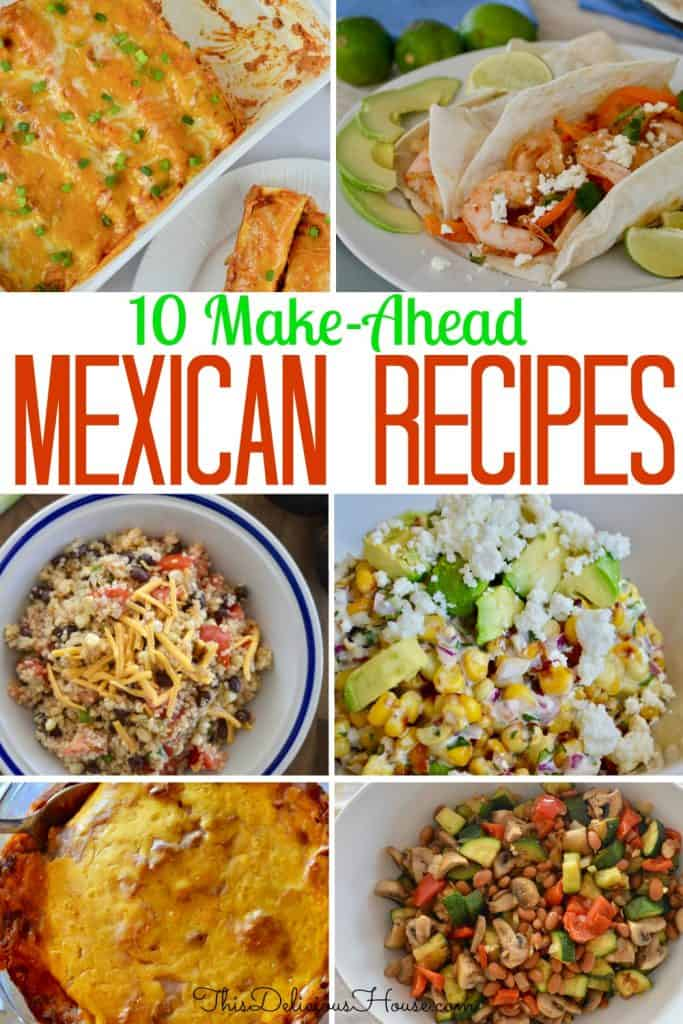 various different Mexican recipe photos