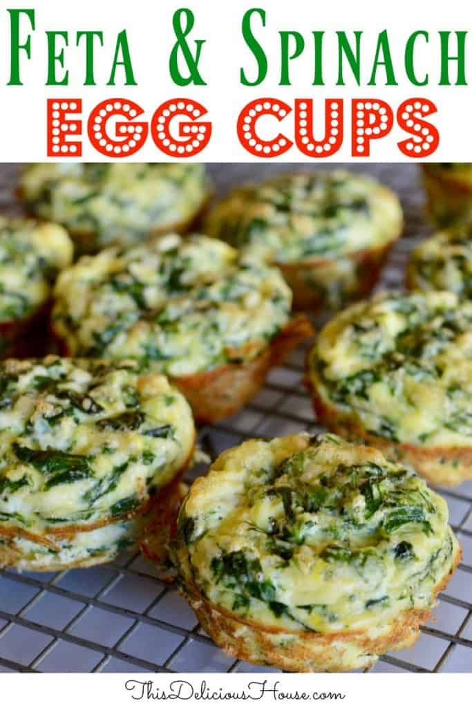 Feta and spinach egg cups pinterest pin.