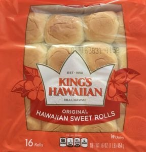 King's Hawaiian Rolls for Ham and Cheese Sliders