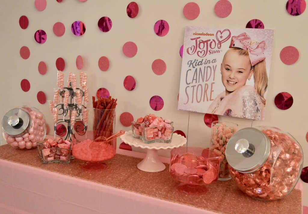 jojo siwa birthday party pink candy table