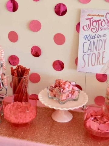 JoJo Siwa Birthday Party Pink Candy Table