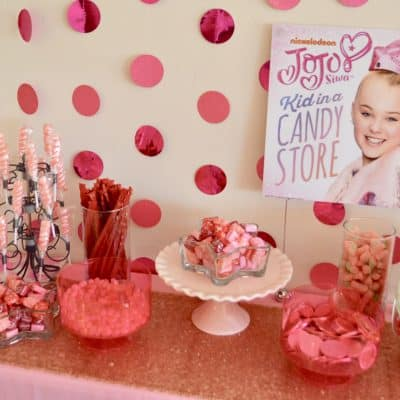 Candy Table | How to make a pink candy buffet