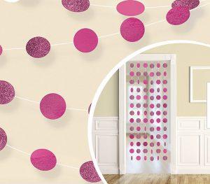 pink hanging dots
