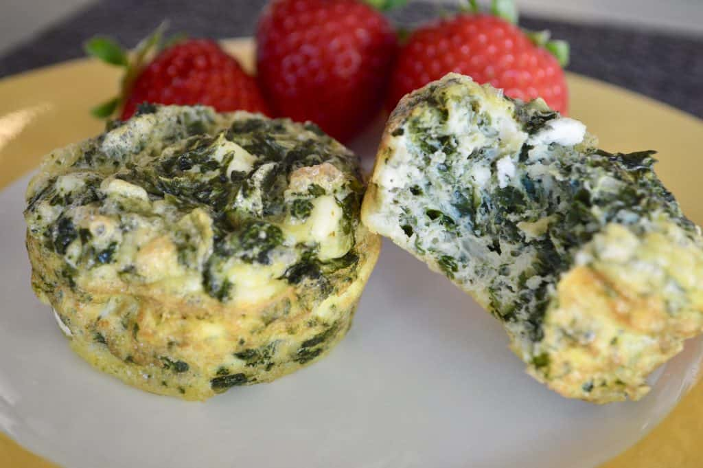 Spinach and Feta Eggs Cups