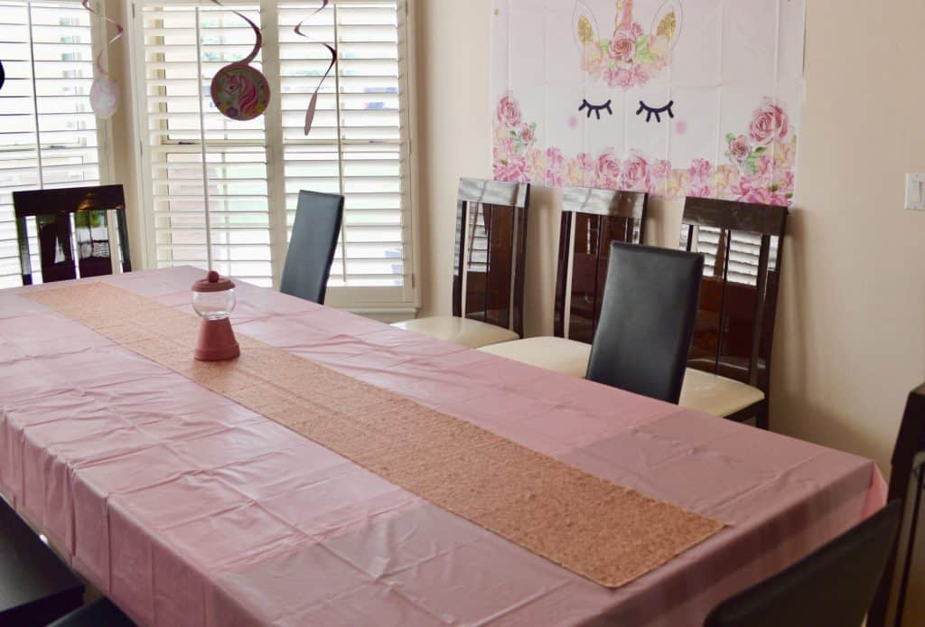 table set up for how to throw a slime party