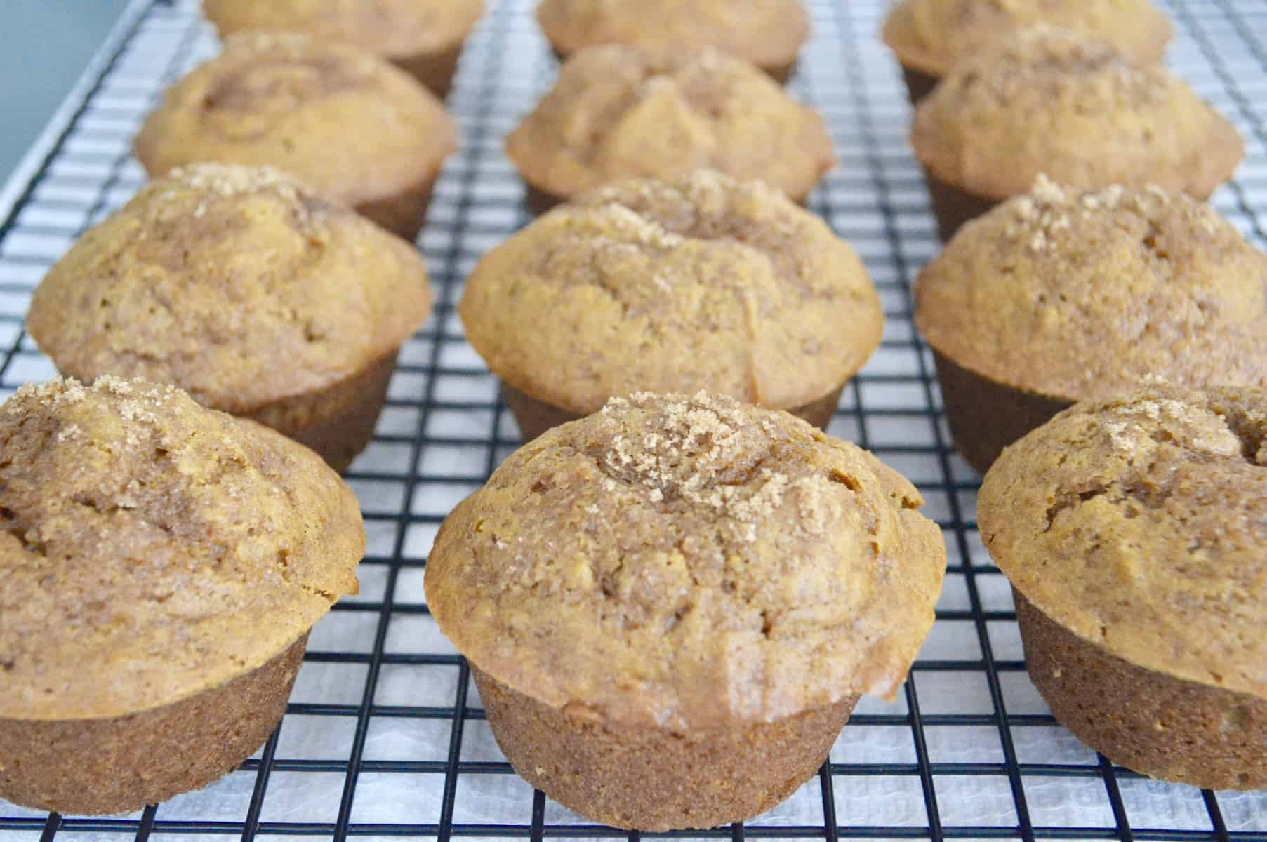 Pumpkin Muffins with Brown Sugar Topping