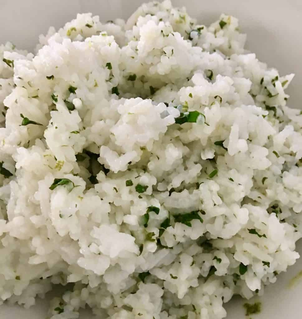 Cilantro Lime Rice for a taco party