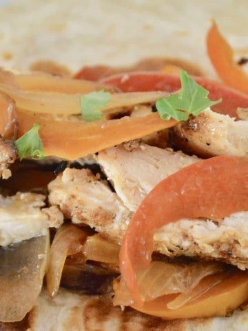 Taco Bar Ideas and recipes include grilled fajita chicken with bell peppers and onions