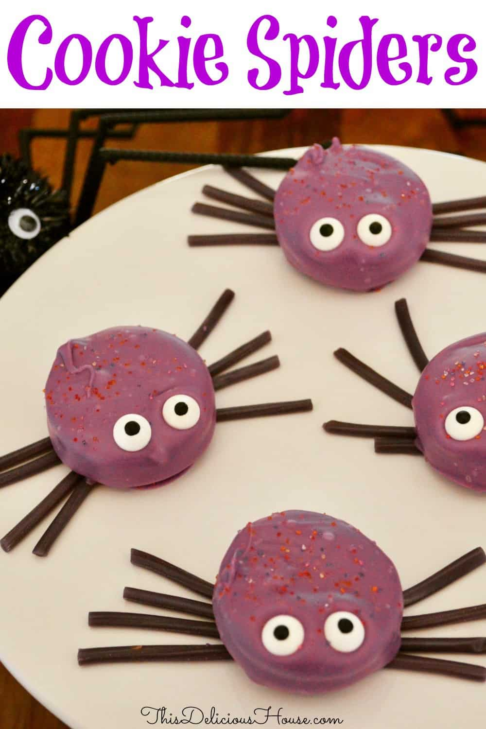 oreo cookie spiders pinterest pin.