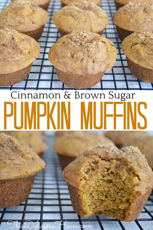 pumpkin muffins pinterest pin.