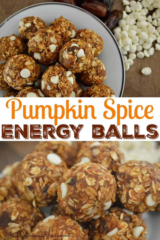 pumpkin spice energy balls Pinterest pin.