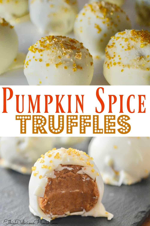pumpkin spice truffles pinterst pin.