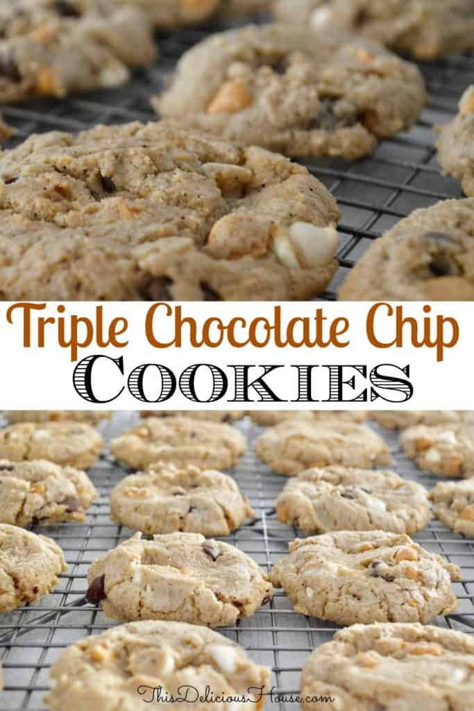 Triple Chip Cookie Pinterest Pin