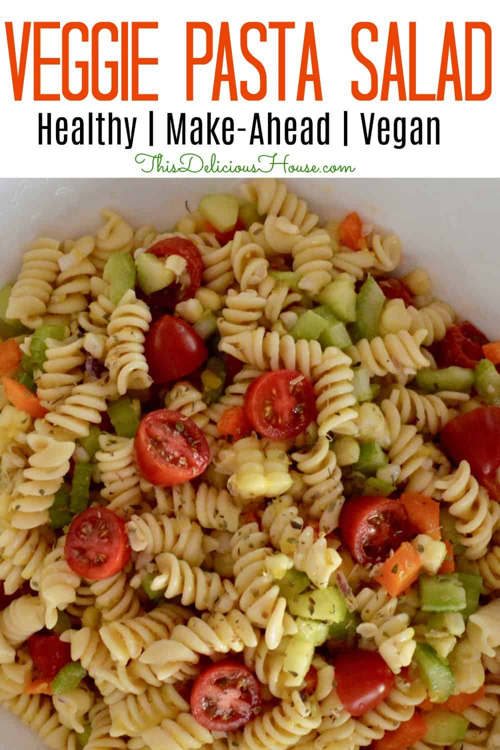 veggie and corn pasta salad.