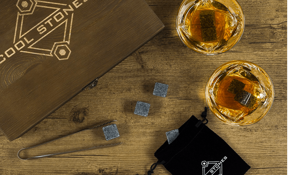 Best Gifts for Men - Whiskey Stones and Glasses gift set