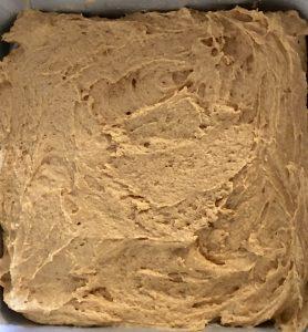 bottom layer of the pumpkin streusel coffee cake