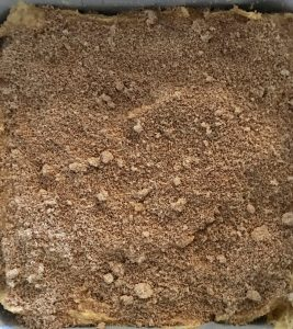 brown sugar and cinnamon filling layer for the pumpkin streusel coffee cake