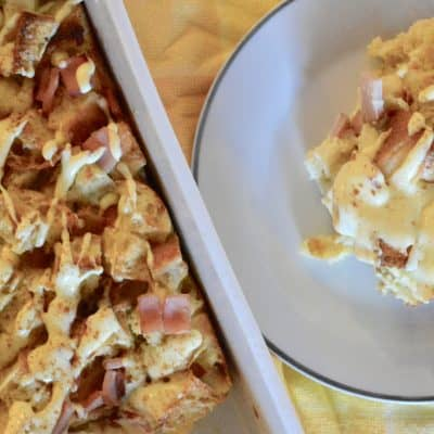 Eggs Benedict Casserole with Hollandaise Sauce