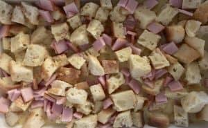 custard mixture for eggs Benedict casserole