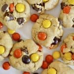 Reece's Pieces Peanut Butter Chocolate Chip Cookies