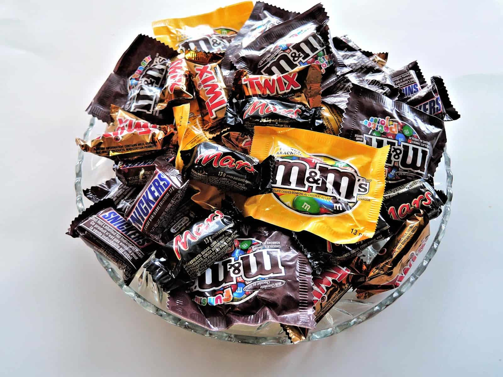 bowl full of candy.