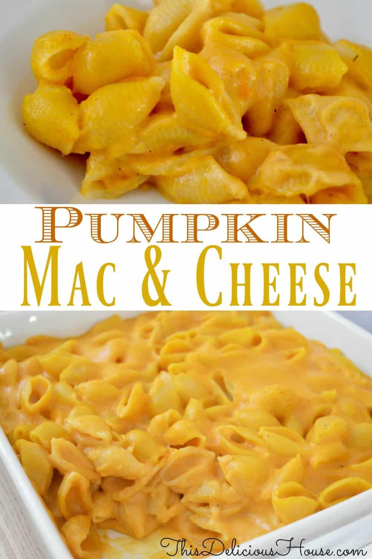pumpkin Mac and cheese pinterest pin