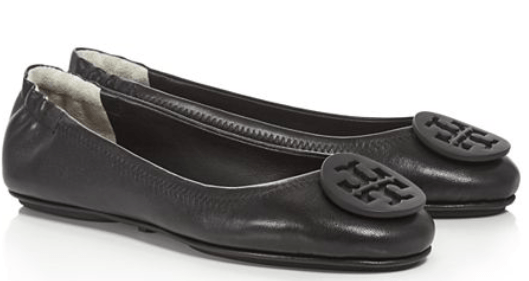 fit mom gift guide tory burch women's Minnie leather travel ballet flats Bloomingdales