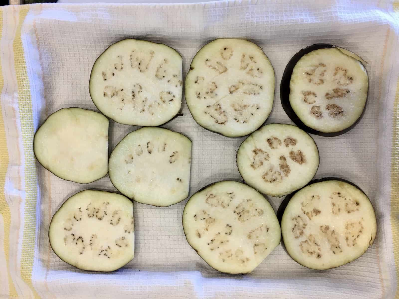 getting moisture out of the eggplant
