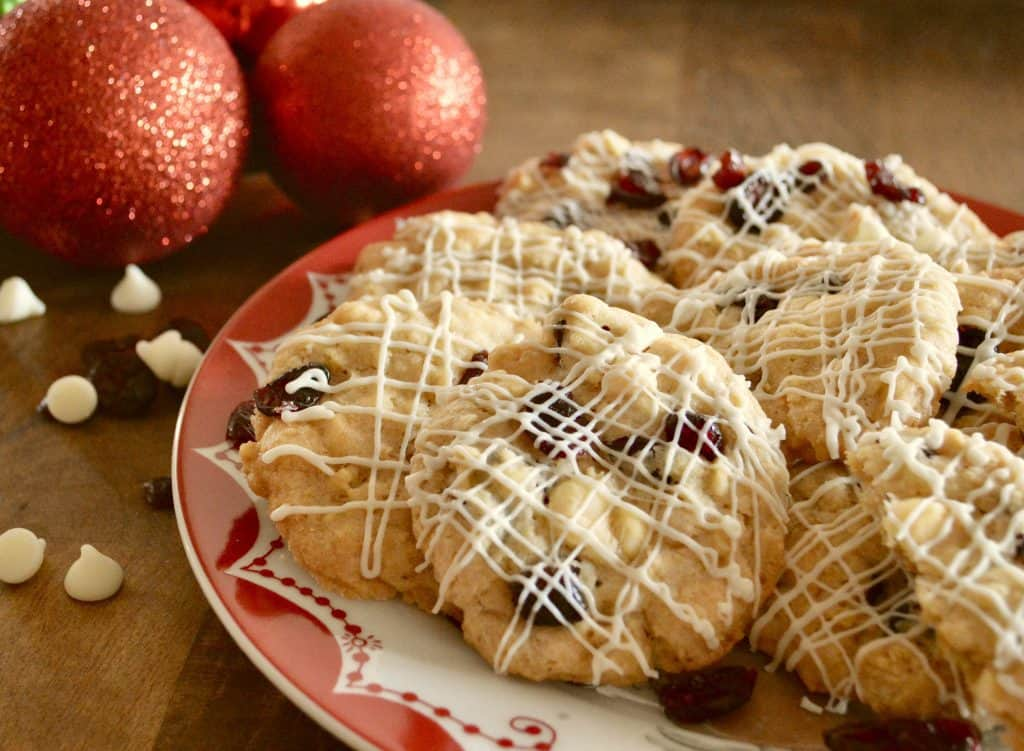 White Chocolate Cranberry Cookies are the perfect holiday cookie
