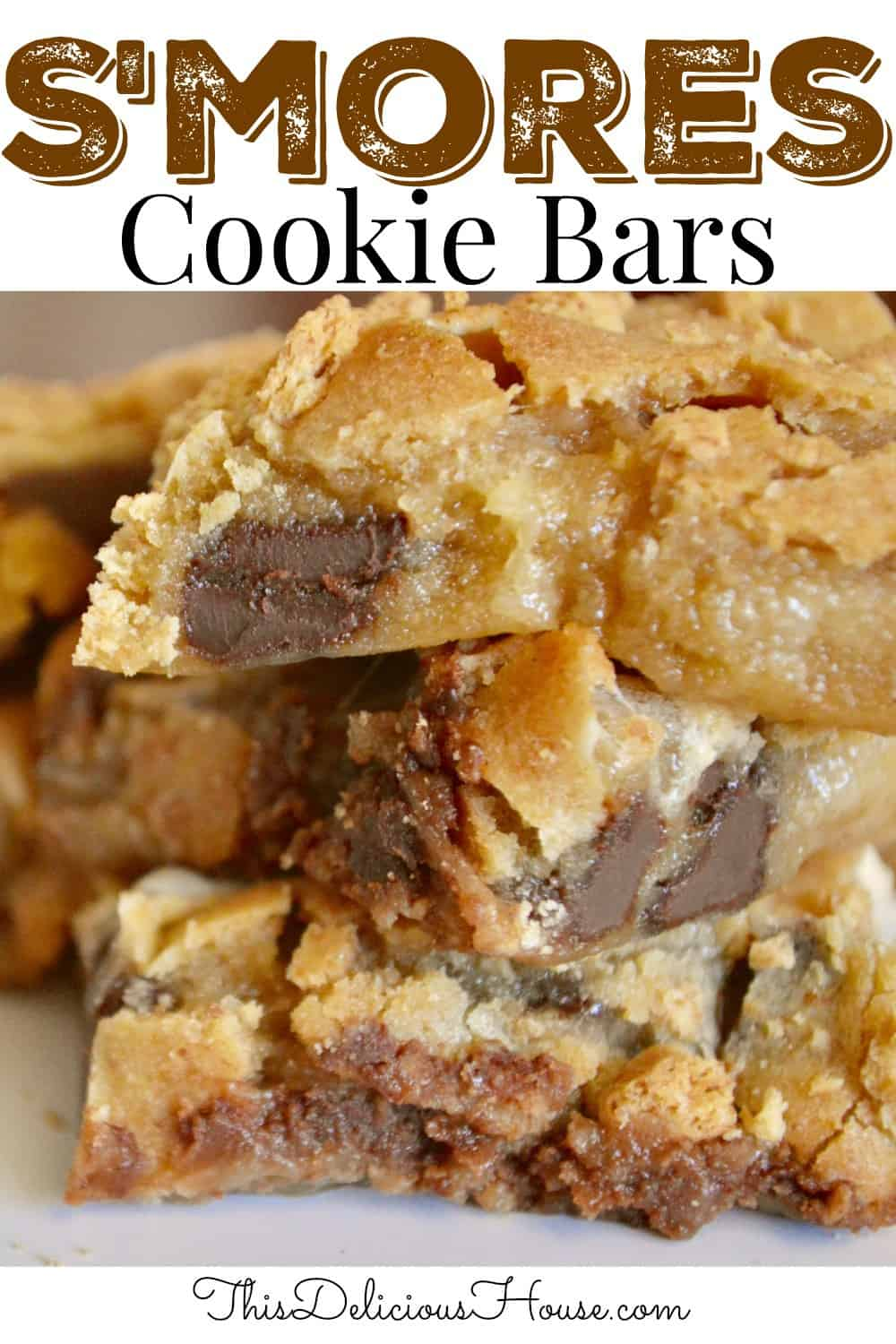 S'mores cookie bars pinterest pin.