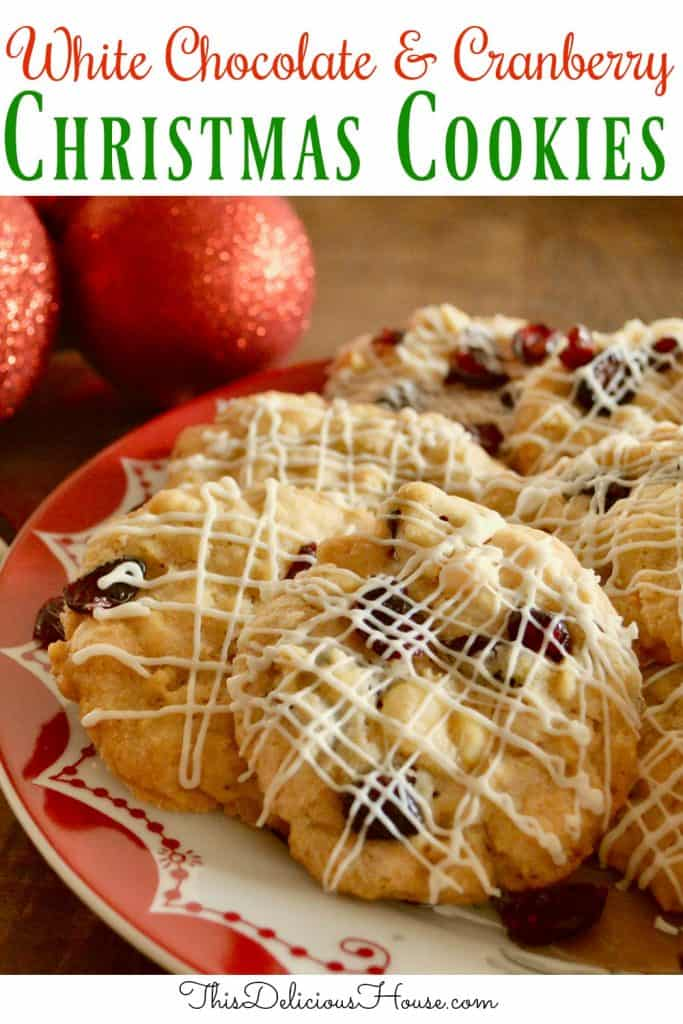 White Chocolate Cranberry Cookies pinterest pin.