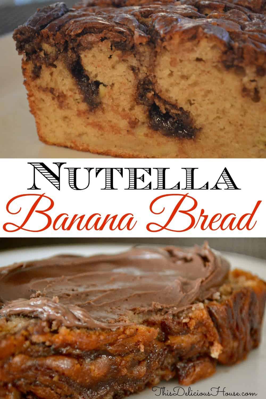 nutella banana bread pinterest pin.