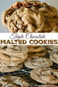 Triple Chocolate Malted Cookies
