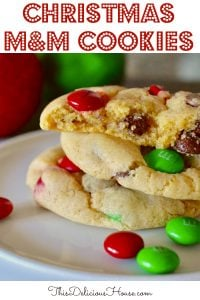 Soft Batch Christmas M&M Cookies