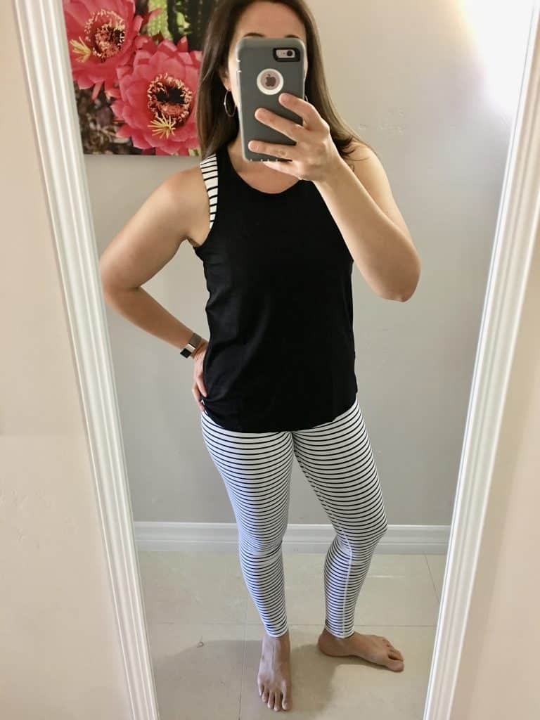 black and white workout outfit from Wantable fitness