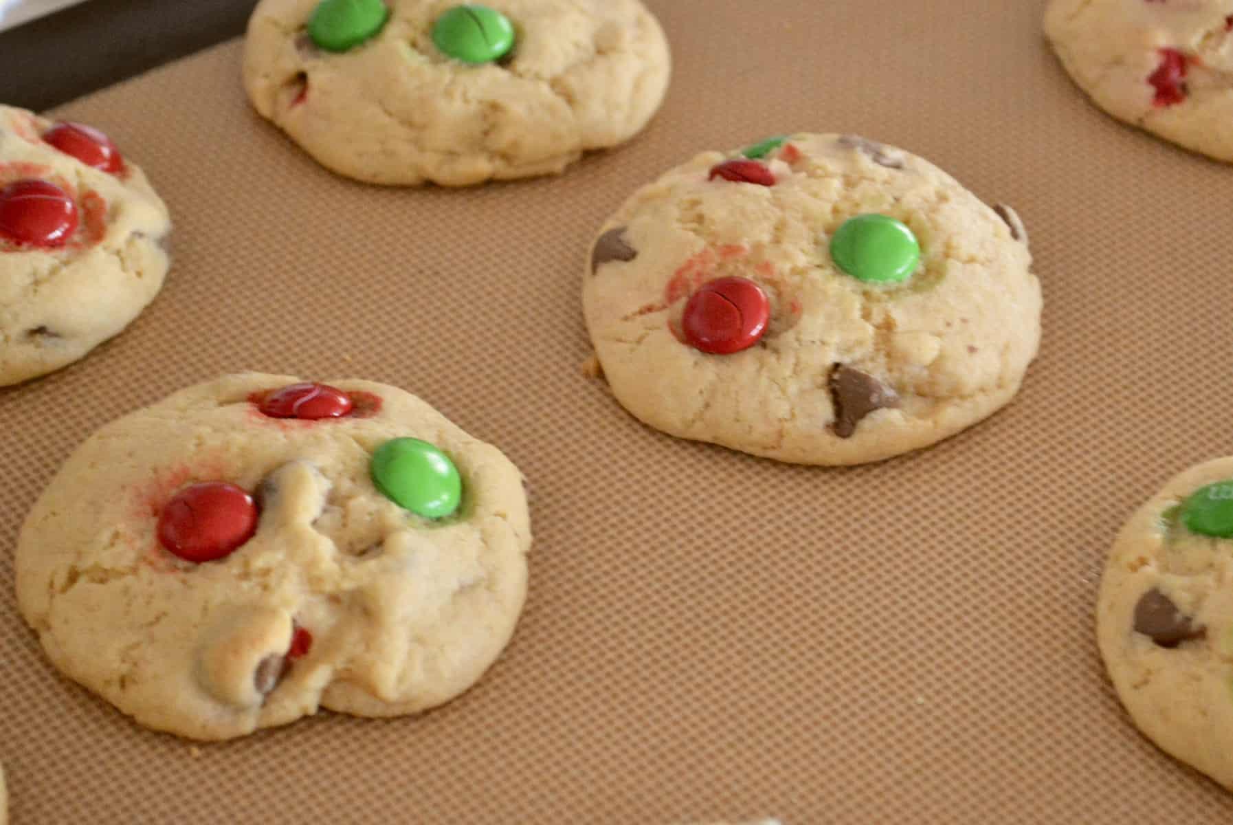 treats on a non stick baking mat.