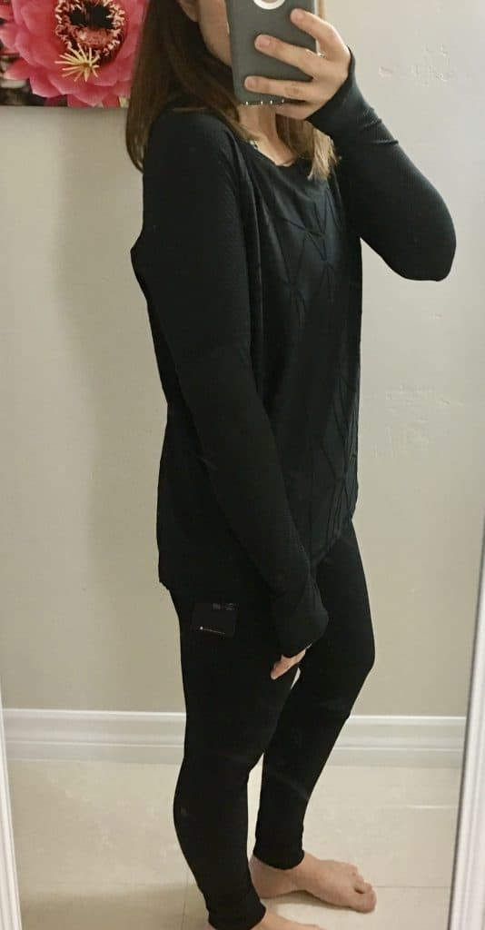 Wantable Fitness Edit - long sleeved black top