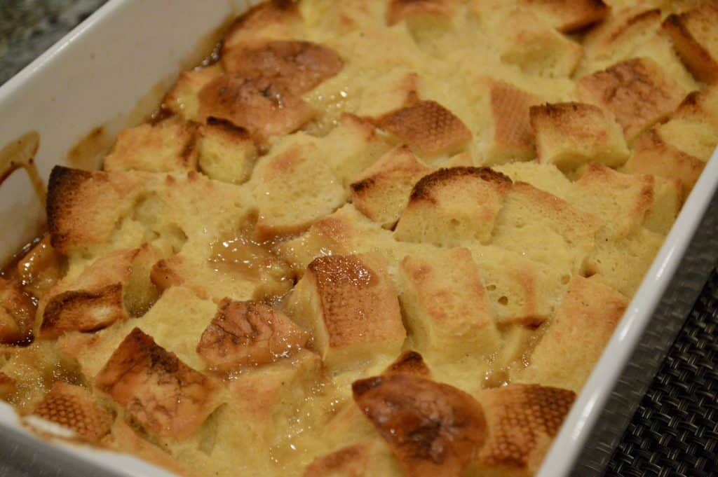 baked French toast casserole with eggnog