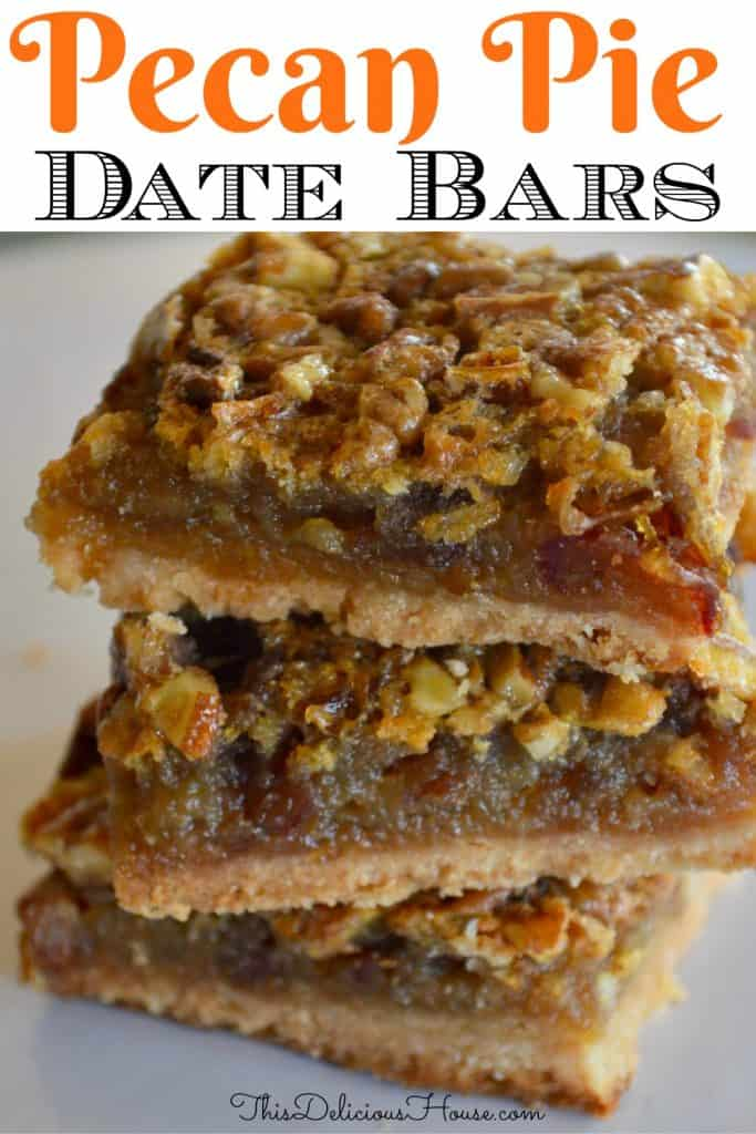pecan Pie date bars pinterest pin.
